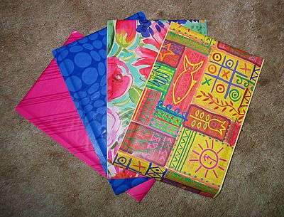 padded colorful envelopes