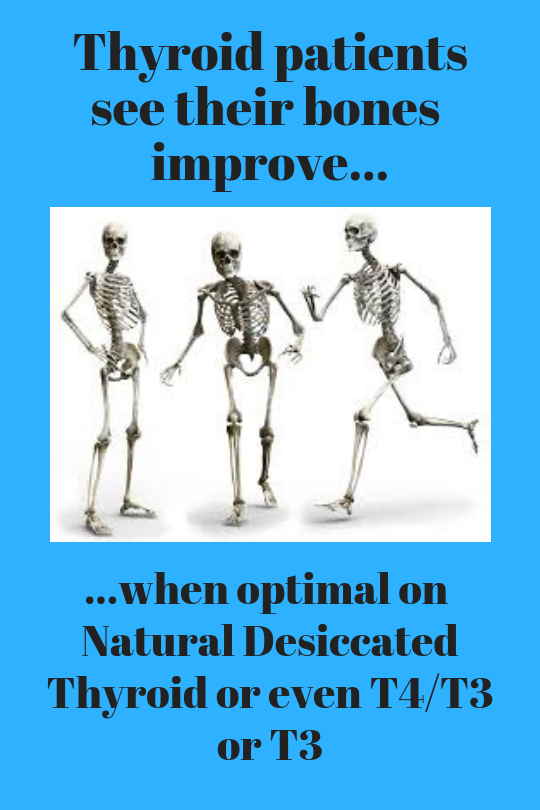 Desiccated Thyroid or T3 and Your Bones - Stop The Thyroid