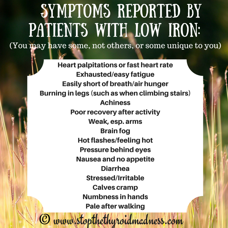 STTM graphic iron symptoms reported by patients